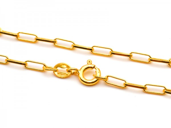 Gliederkette (50cm) vergoldet