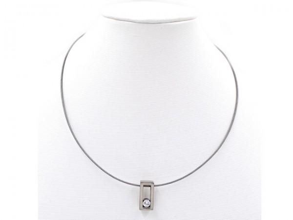 "Edelstahlhalsreifen ""Crystal"" (45 cm)"