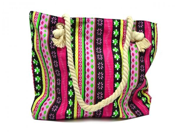 Tasche mit Tau-Trägern und Reißverschluss