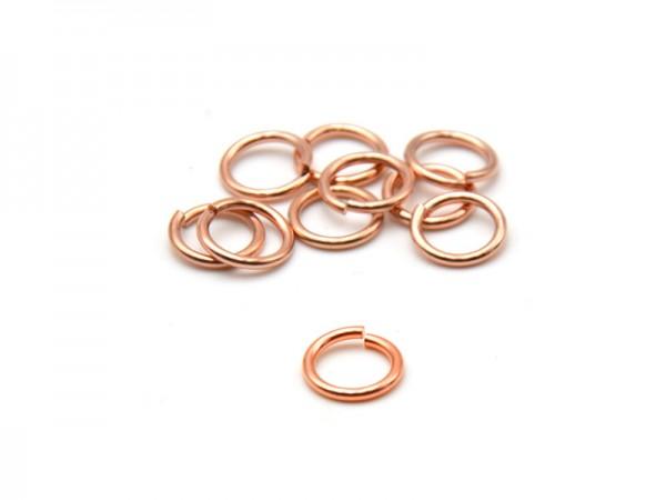 Biegeringe offen (1mm) (7mm) 10St. rosevergoldet