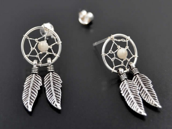"Ohrstecker ""Dreamcatcher"""