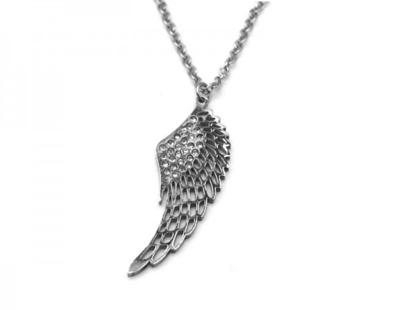 Edelstahlkette Flügel (45cm+5cm)