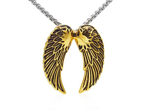 """Edelstahlanhänger """"Flügel gold"""""""