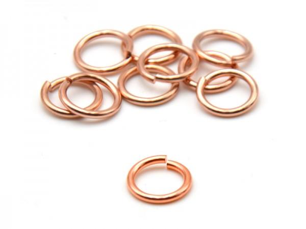 Biegeringe offen (1,2mm) (9mm) 10St. rosevergoldet