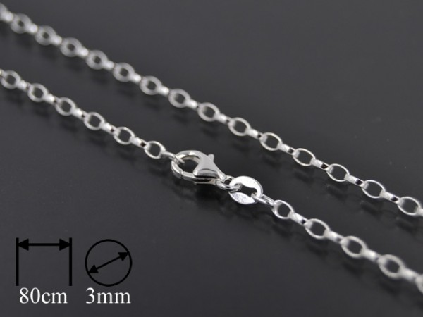 Kette Rolo Oval (3mm) [80cm]