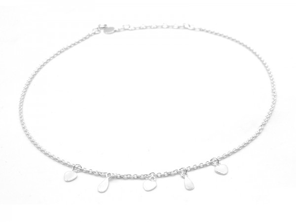 "Collier ""Hearts and Drops"" (40+5cm)"