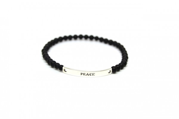 "Armband Black Pearl ""Peace"""