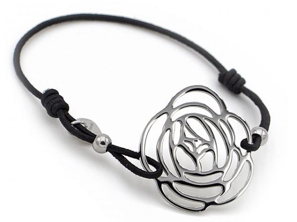 "Armband ""Rose"" mit Edelstahl"