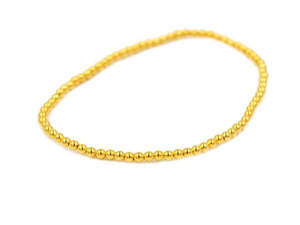 Kugelarmband (2,5 mm) (19.5 cm) vergoldet