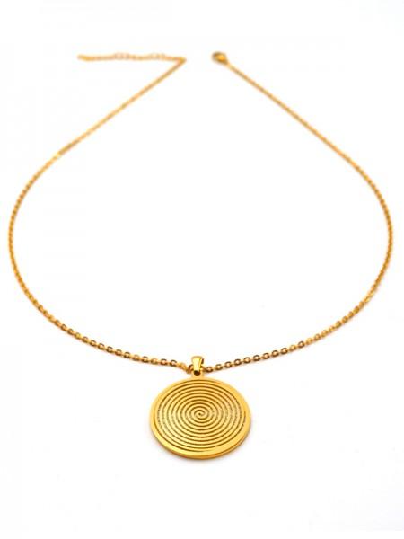 """Edelstahlkette """"Spirale"""" (50+5cm) vergoldet"""