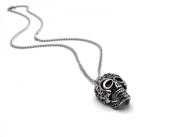 """Edelstahlkette """"Mexican Skull"""""""