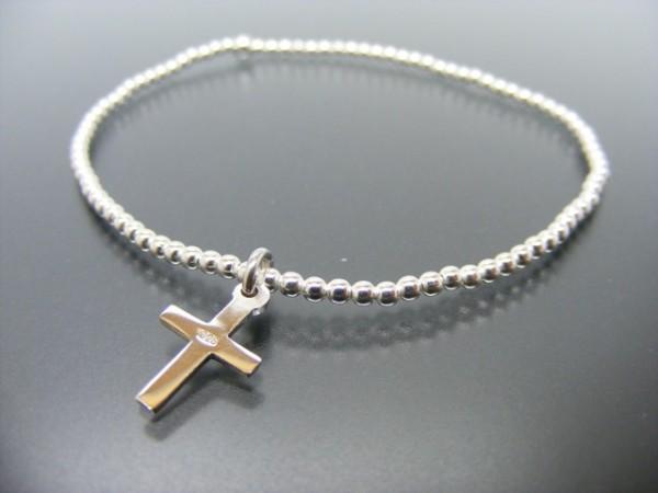 "Kugelarmband ""Cross"" (18cm)"