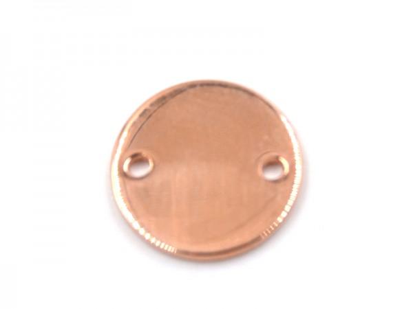 """Anhänger """"Kreis"""" (11mm) rosevergoldet"""