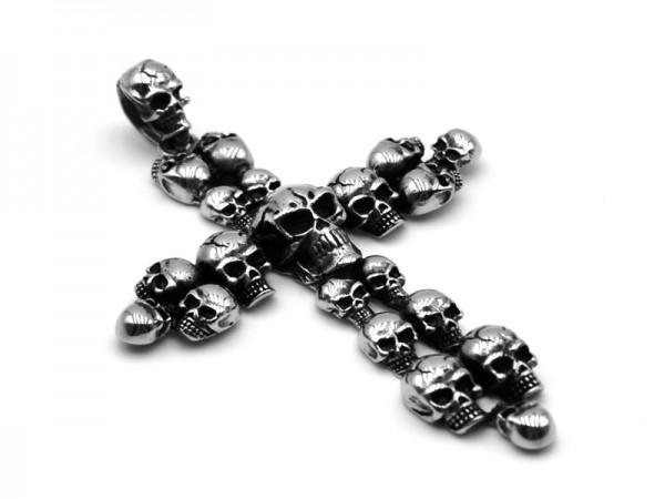 "Edelstahlanhänger ""Kreuz"" (80mmx60mm)"