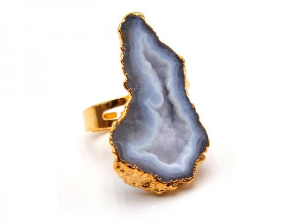 Ring mit Achatscheibe
