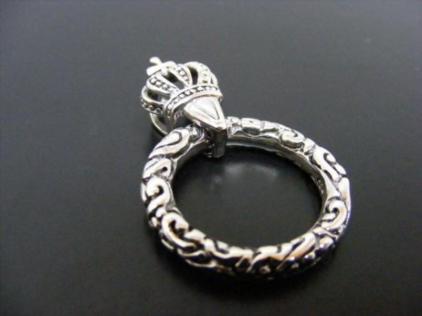 Hülse mit Ring 925er Silber